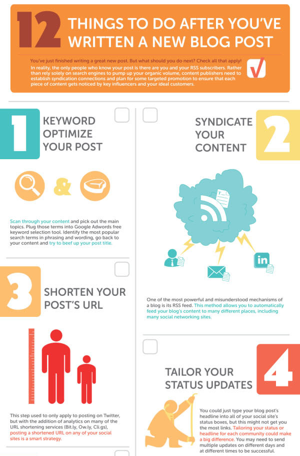 Things Infographic 12 Detailed Checklists to Promote Your Blog [Infographic]