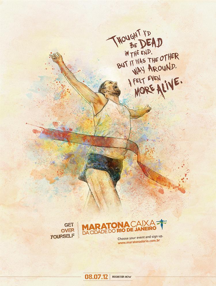 alive 750 Get Over Yourself   Rio de Janeiros Marathon Campaign