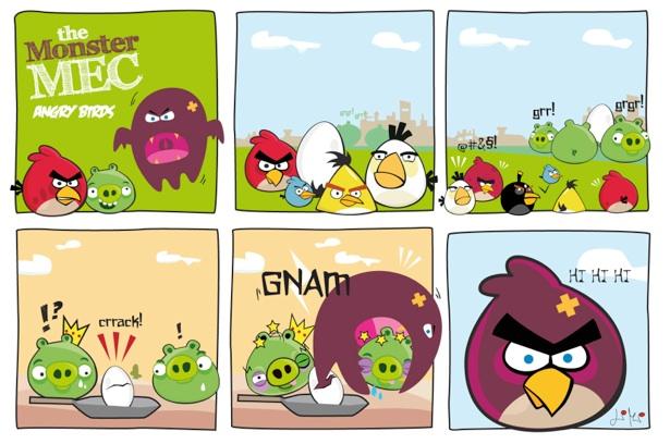 angrybirds Angry Birds against theMonsterMec