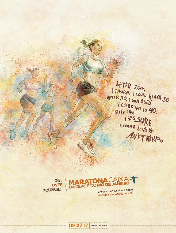 anything 750 Get Over Yourself   Rio de Janeiros Marathon Campaign