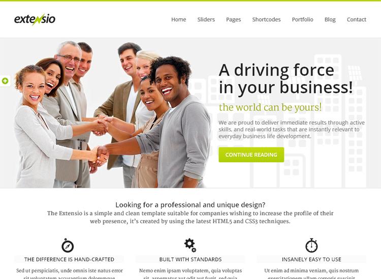 extensio 02 30+ Premium Business WordPress Themes