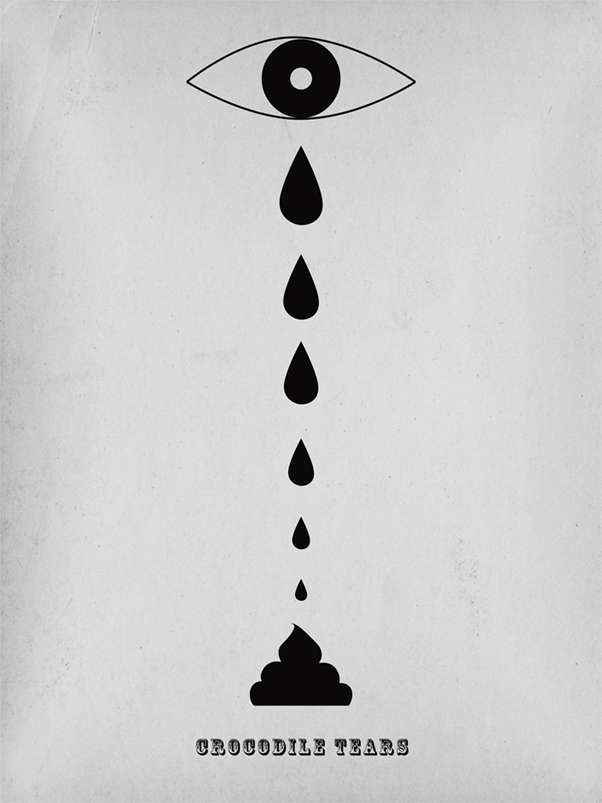 krokodyle lzy Crocodile Tears by Gosia Herba.