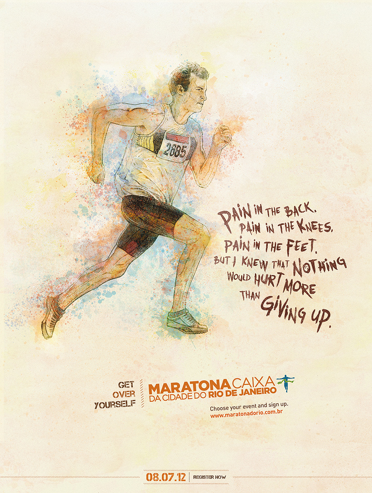 pain 750 Get Over Yourself   Rio de Janeiros Marathon Campaign