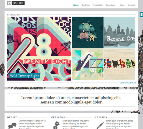 premium portfolio wordpress themes 01 25+ Premium Portfolio WordPress Themes