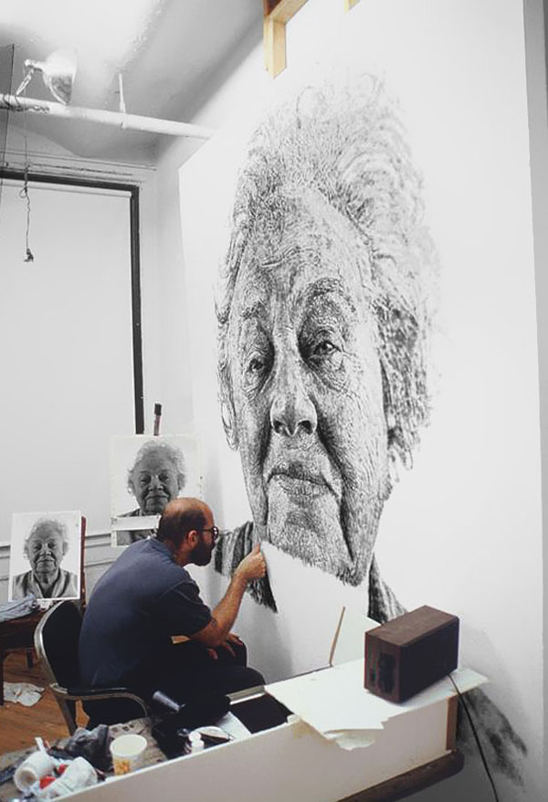 Portraits Made With Thousands of Artists Fingerprints