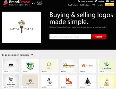 sell logos BrandCrowd: TemplateLogo Marketplace Goes Premium