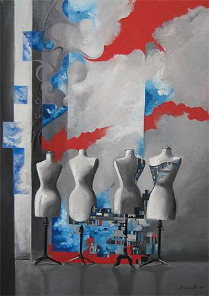 BiancaRaffaela painting 09 Fashion Painting by Bianca Raffaela