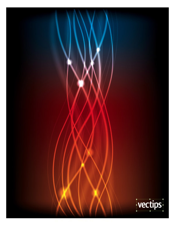 Create a Glowing Abstract Light Vector Graphic 16 Amazing Illustrator Wave Style Tutorials