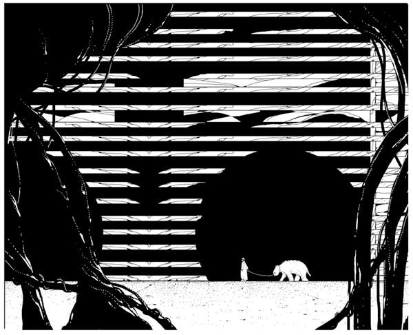 KE1 Monochrome illustrations by Kilian Eng