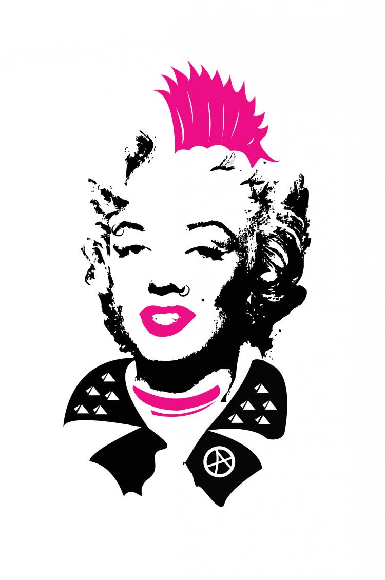 MARILYN punk 750x1130 Punk Marilyn