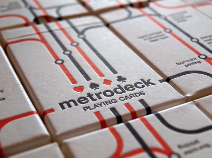 MetroDeck Playing Cards MetroCards collabcubed MetroDeck