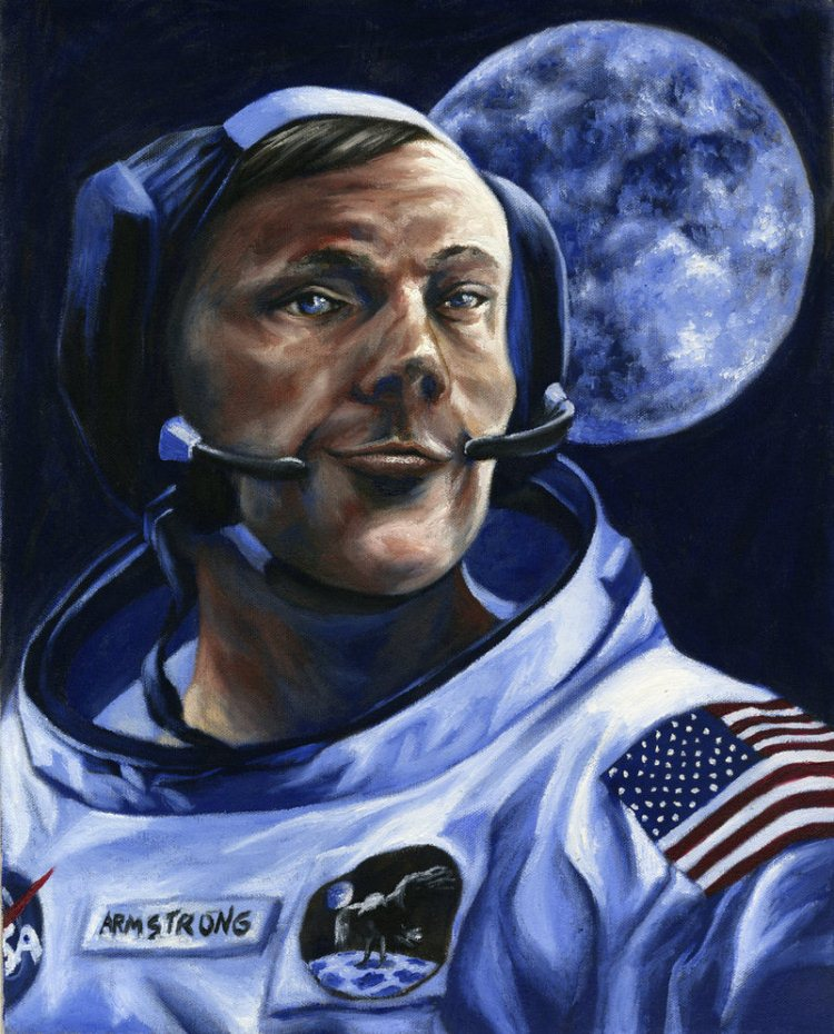 Neil Armstrong by Luthienshadows 20+ Inspiring Graphic Tributes to Neil Armstrong