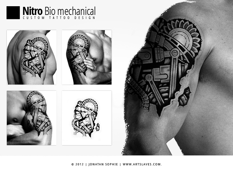Nitro Tattoo design1 artslaves Nitro Bio Mechanical Tattoo