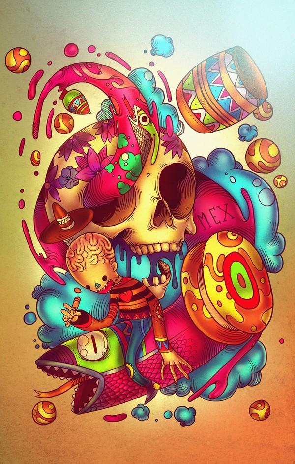 RU11 Vector illustrations by Raul Urias