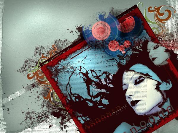 abandoned thoughts   by Qa9ed2000600 450 Mixed Media Artwork by Saeed Al Madani