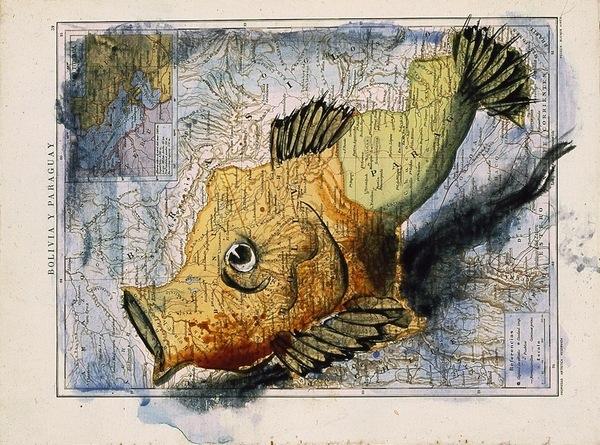 atlas paintings 03 Atlas: Acryl Paintings on Maps by Fernando Vicente