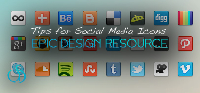 best web design tips for social media buttons icons ever 2012 407x190 Simple Web Design Tips for Social Media Icons
