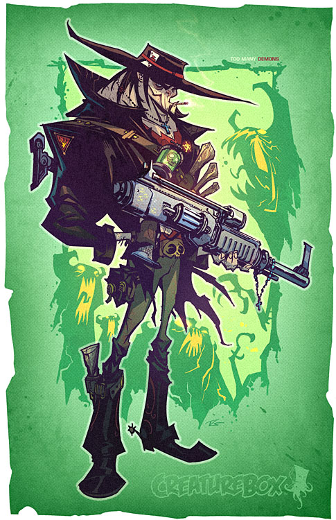 cb demon hunter1 Exceptional Character Design and Comic Art by CreatureBox