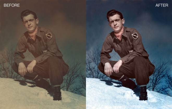 colouring 2 Coloring old, black and white photo in Photoshop   25 Best Photoshop Works