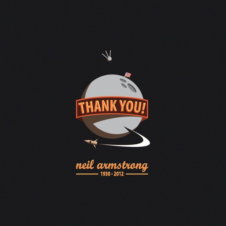in memory of neil armstrong by bet0n d5cjlie 20+ Inspiring Graphic Tributes to Neil Armstrong
