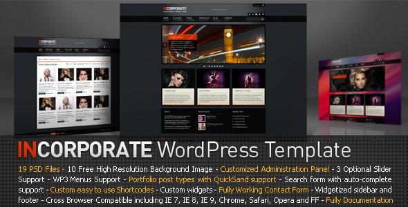 inc  Incorporate Business WordPress Template