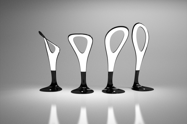 The Motion Lamp, a bendable ultra thin body you can twist