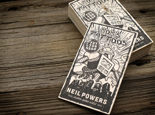 The coolest business card designs of august 2012