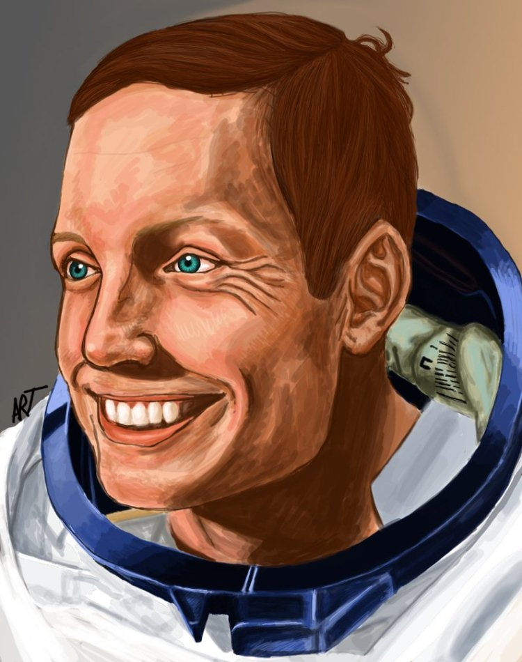 neil armstrong by fallen ninja d3g4yxj 20+ Inspiring Graphic Tributes to Neil Armstrong