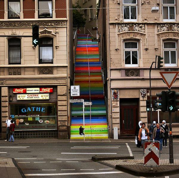 Colourful Neighbourhood Steps