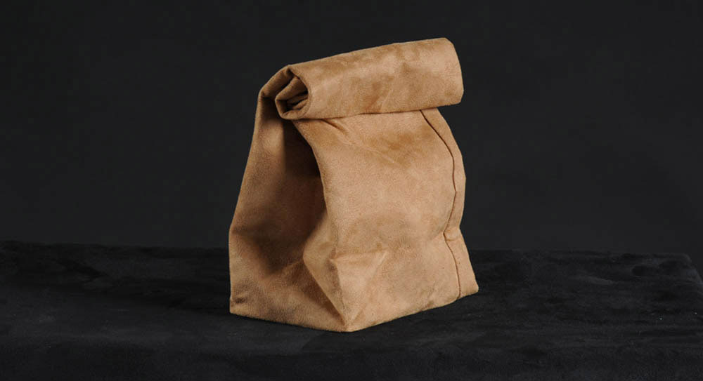 120 My Suede Lunch Bag