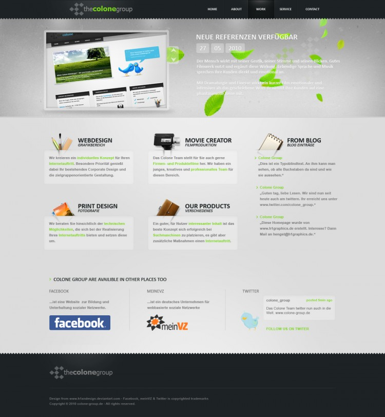 15 top portfolio web designs81 750x812 13 Top Portfolio Web Designs