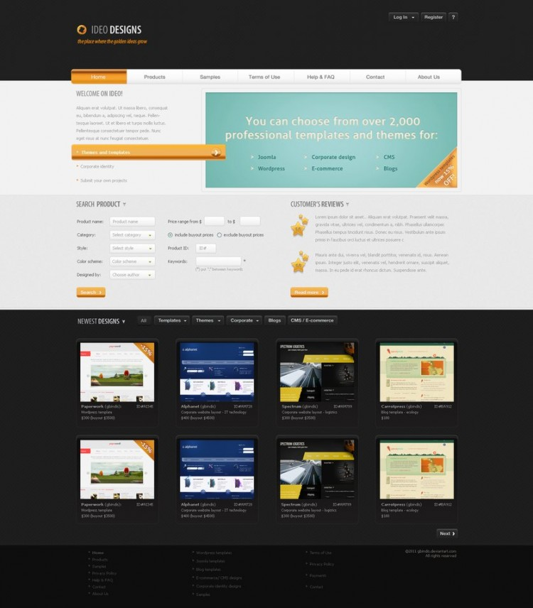 Awesome Wordpress Designs2 750x856 15 Best WordPress Theme Designs