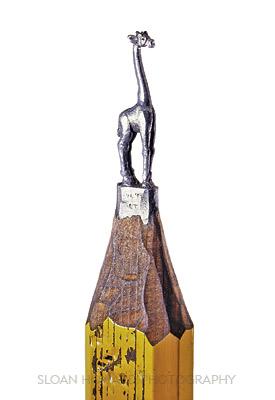 Giraffe Awesome Pencil Sculptures By Dalton M. Ghetti