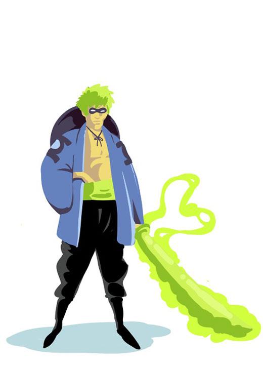 Green Lantern Samurai Final Adobe Ideas: Green Lantern Samurai