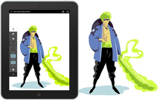 Green Lantern Samurai concepts2 Adobe Ideas: Green Lantern Samurai