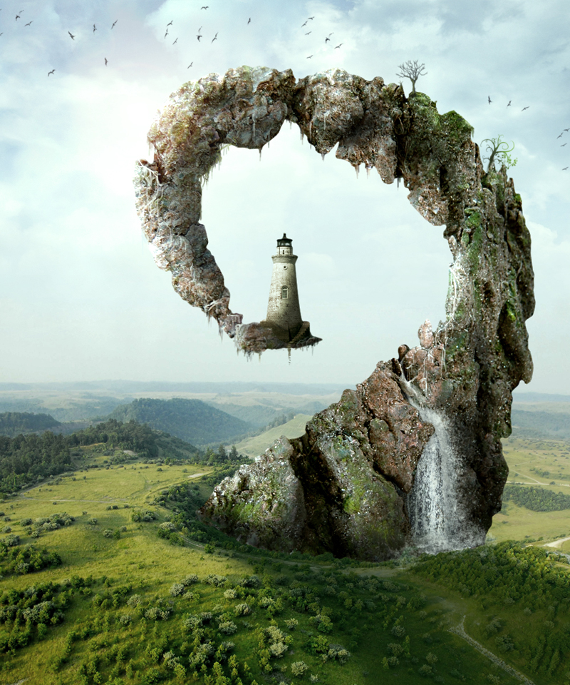 Landscape Building Imaginative Beautiful Examples Photo Manipulation Using Photoshop
