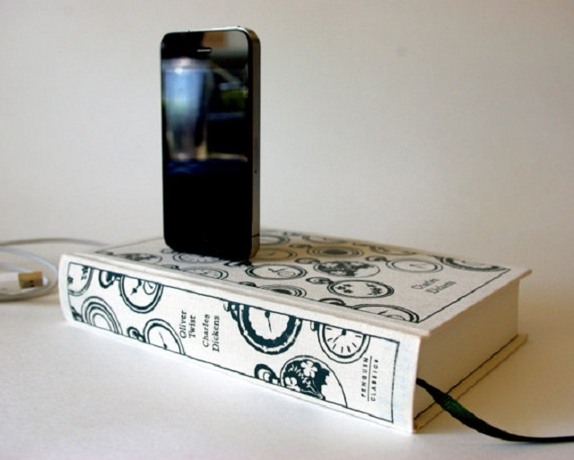 Oliver Twist Book design iPhone chargers by Rich Designs Neely
