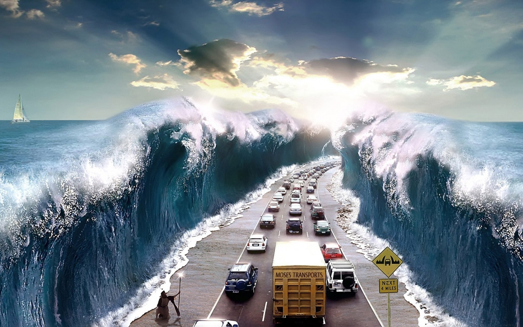 Surreal Traffic City Top Beautiful Examples Photo Manipulation Using Photoshop