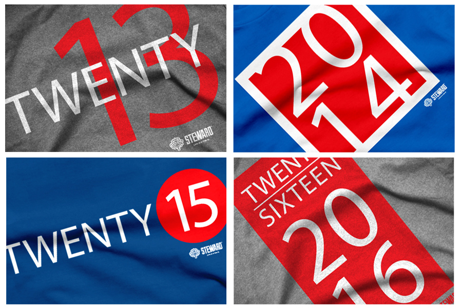 Years peek Grad year series   T shirts by Steward