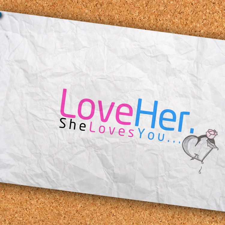 """Love Her. She Loves You."" > from Design You Trust"