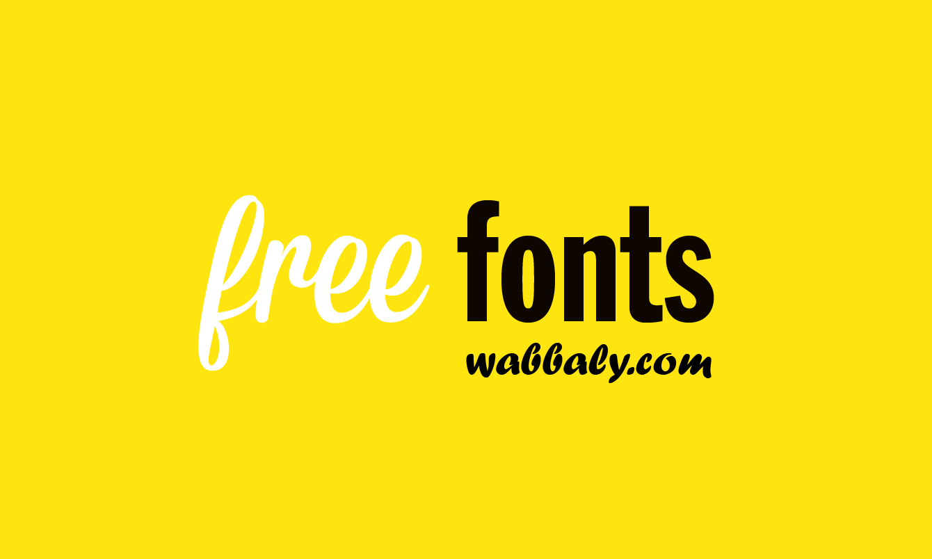 free Free fonts to use in your future projects