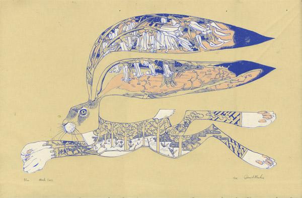 hare silkscreen print Hare Screen Print by Daniel Mackie