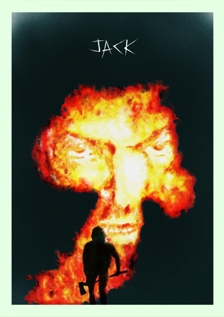 jack Jack Nicholson —ART PRINT HAND FINISHED with ACRYLIC by Rocco Malatesta