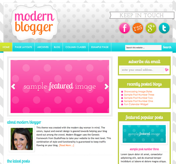 modernblogger screen small 30 Girly WordPress Themes