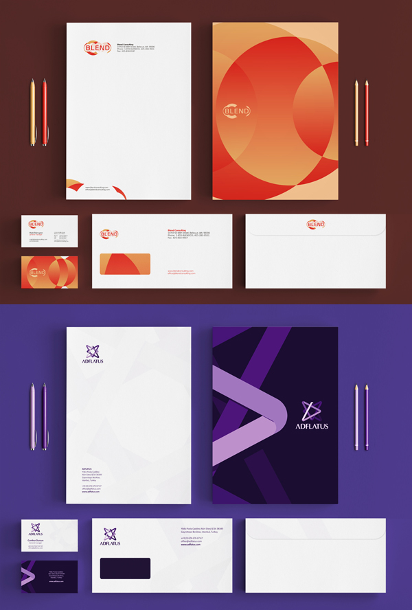 utopia branding agency stationery design 2 Utopia branding agency