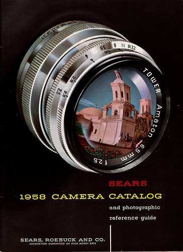 01 Sears 1958 Camera Catalog cover 1958 Sears Camera Catalog