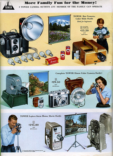 02 1958 Sears 3 Tower Camera Outfits any member of the family can operate 1958 Sears Camera Catalog