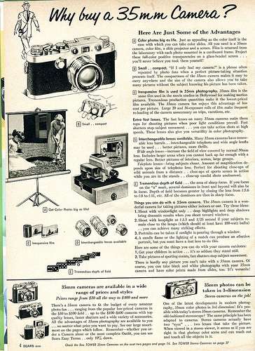 03 1958 Sears Why buy a 35mm Camera 1958 Sears Camera Catalog