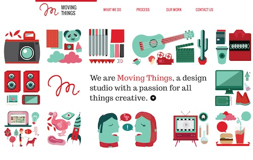 08 moving things Creative Examples of Clean and Minimal Web Designs
