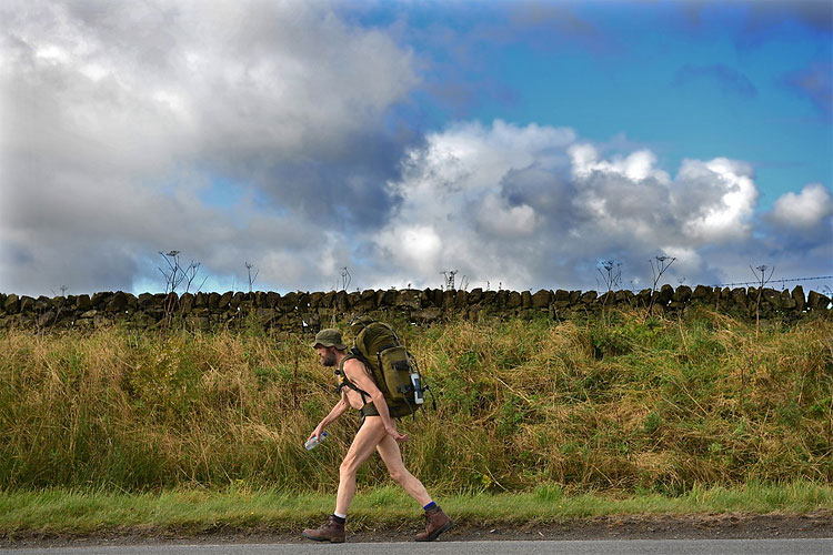 1107 Naked Rambler Stephen Gough Makes His Way South Following Release from Saughton Prison